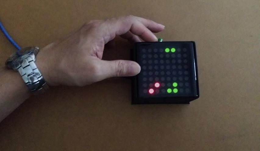 Arduino Based Bi-Color LED Matrix Flappy Bird Game