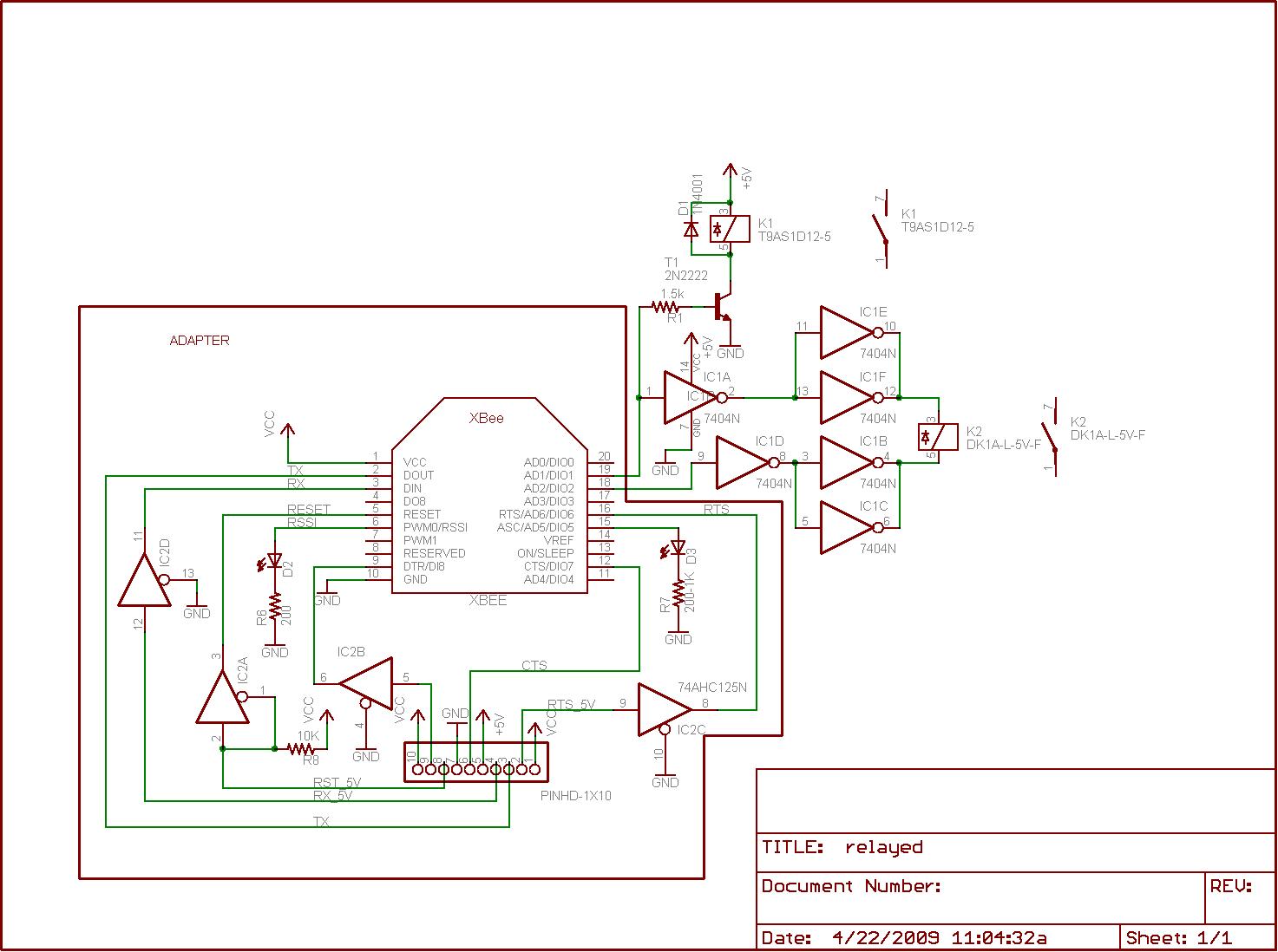 Using Xbees To Control Relays  Adafruit Industries  Makers - Motor control using relay circuit diagram