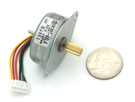 Small stepper motors and micro servos new in the store for Very small stepper motor