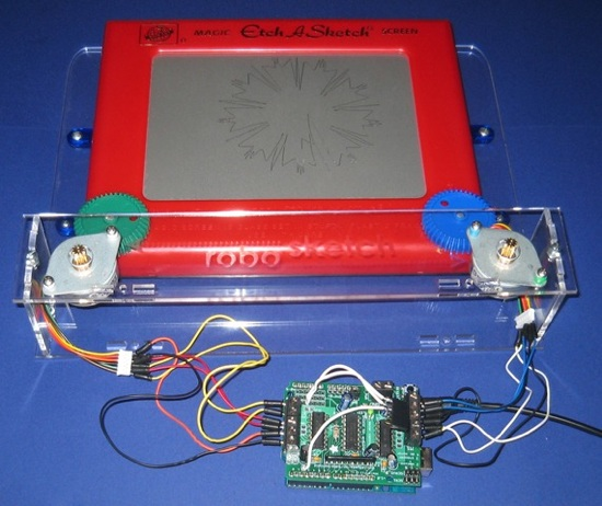 Toys for bots arduino controlled etch a sketch