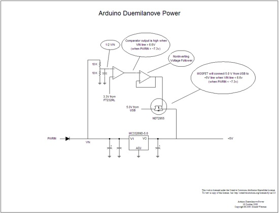 Arduino Duemilanove Power