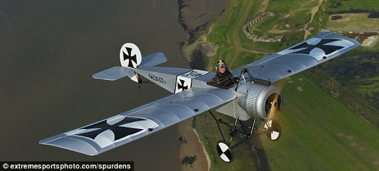 ww1 replica airplane is hand