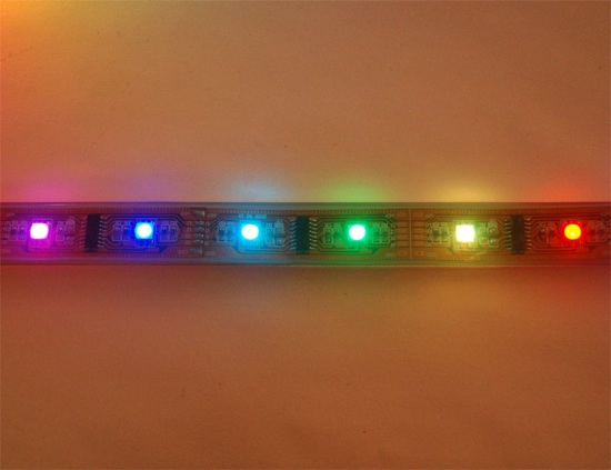 how to connect addressable led strip 122v