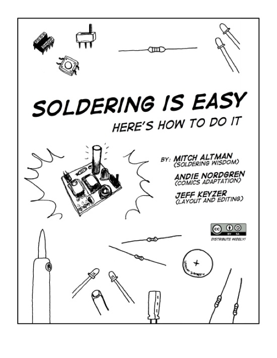 u201csoldering is easy  u201d comic book  u00ab adafruit industries  u2013 makers  hackers  artists  designers and