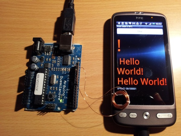 Arduino to android io on the cheap aka poor man s nfc