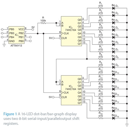 291845-Drive 16 Leds With One I O Line Figure 1