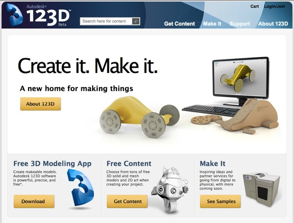 Autodesk 123d Free 3d Modeling Software 3d Models Diy