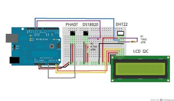 DS18B20 digital temperature sensor and Arduino
