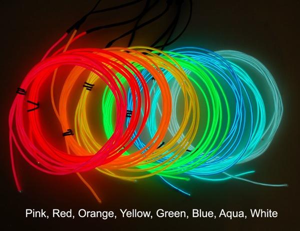 NEW PRODUCTS – EL Wire: White, Aqua, Blue, Green, Yellow, Orange ...