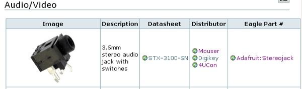 PART FINDER! 3 5mm headphone jack « Adafruit Industries – Makers