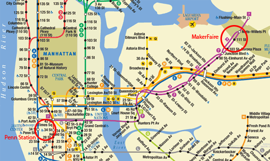 How To Get To World Maker Faire And Ohsummit From Penn