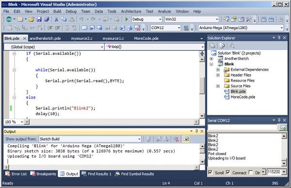 Arduino For Visual Studio Demo