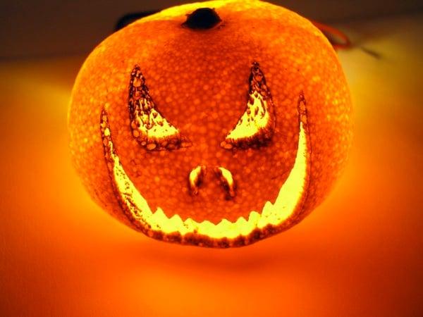 Laser Etched Halloween Orange With Led 628