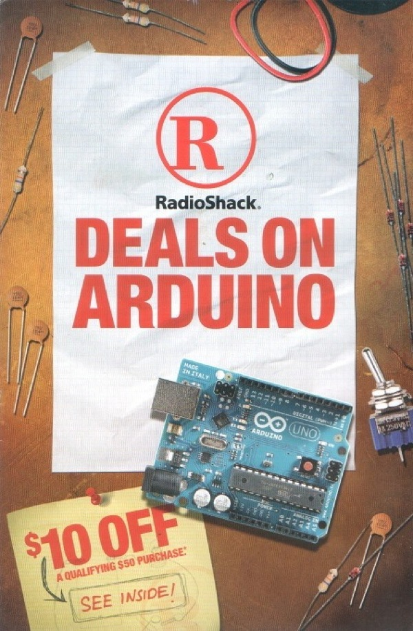 """deals on arduino mailer from radioshack « adafruit"