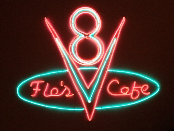 Disney S Cars 2 Flo S V8 Cafe El Wire Sign Made With