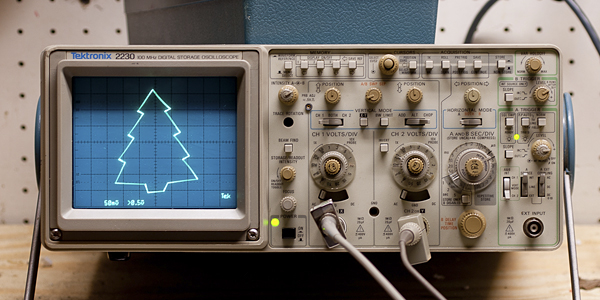 Oscilloscope christmas tree « adafruit industries makers