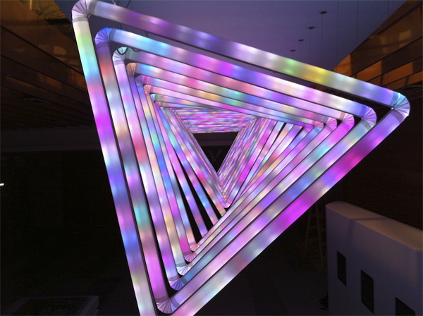 Creating an led and motion installation « adafruit