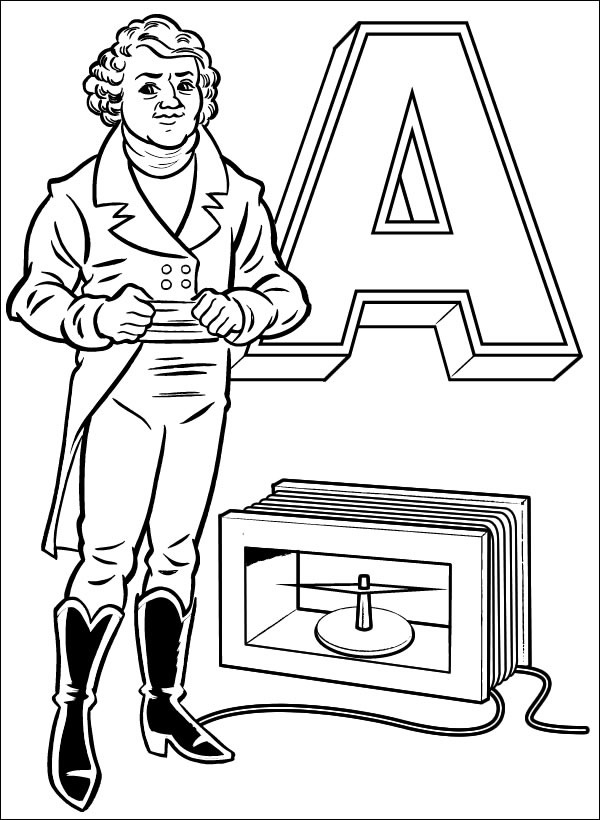 a for ampere  u2013 preview of the open source electronics coloring book  ladyada u2019s e is for