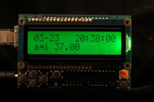 Ambient AQI RGB LCD Data Screen