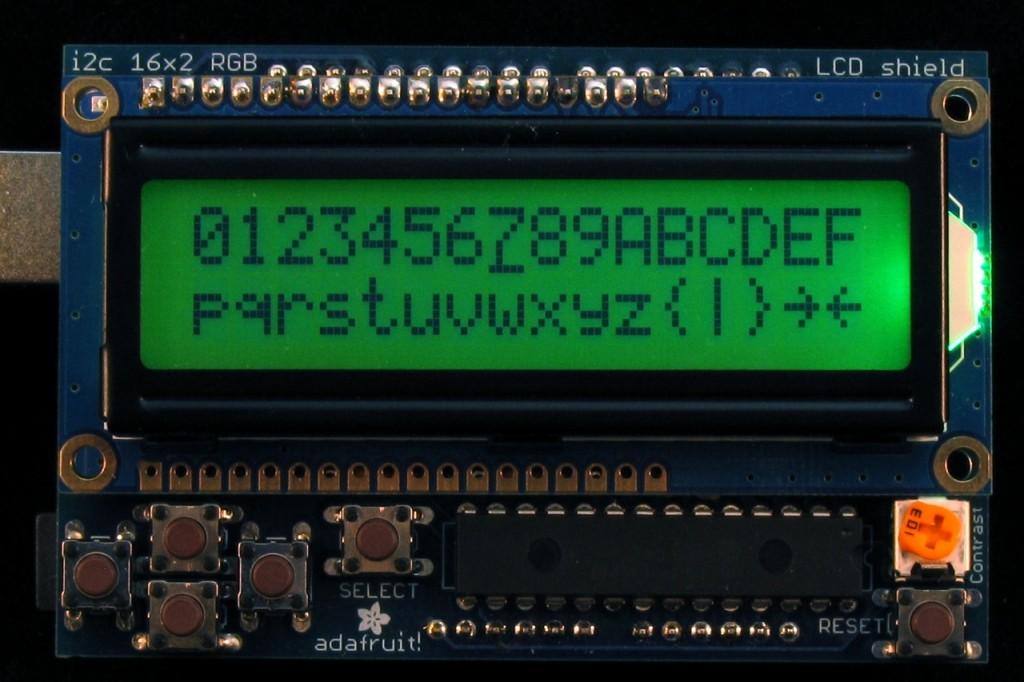 LCD Character Code Sketch Screen Capture