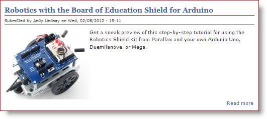 Parallax BOE Shield-Bot book – meet author Andy Lindsay