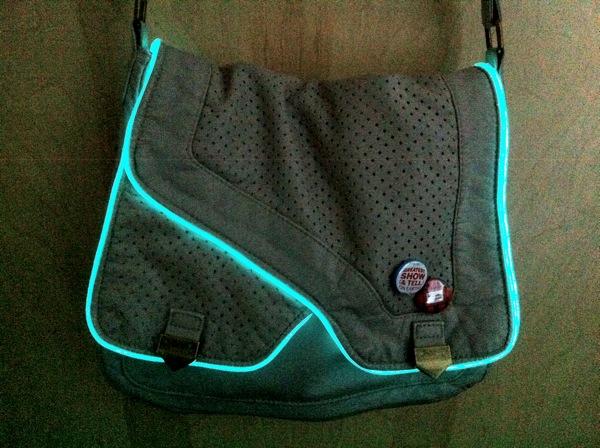 Jessica Uelman\'s TRON bag with EL wire « Adafruit Industries ...