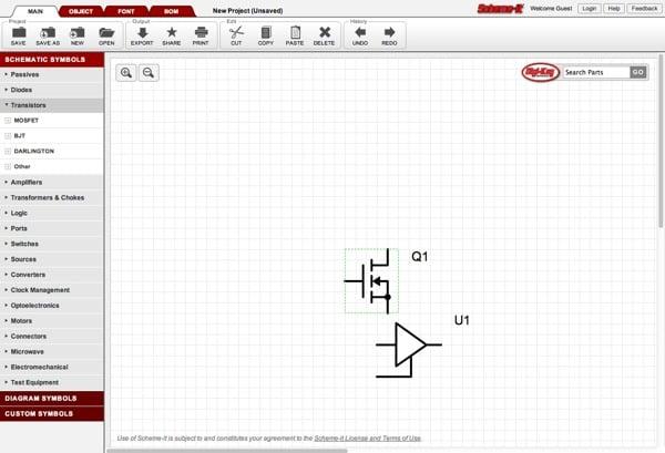 Schemeit Free Online Schematic Drawing Tool By Digikey