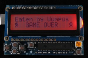 Hunt The Wumpus Game Over Screen