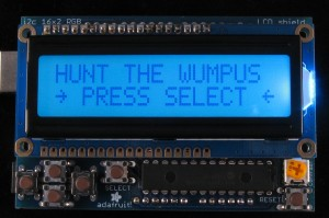 Hunt The Wumpus Splash Screen