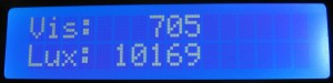 I2C Light Meter Display