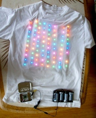 Led T-Shirt Rainbow Party Tiny