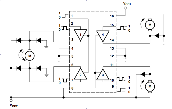 Product product id 331 furthermore Logic Control Diagram in addition Omkarsnl blogspot moreover L293d Quadruple Half H Dc Motor Driver further Ask An Educator How Can I Control A Solenoid Or Motor With An H Bridge. on l293d quadruple half h dc motor driver
