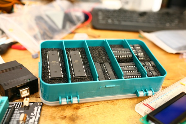 Flickr pool friday AVRs in storage box