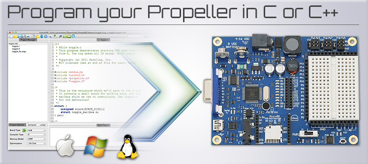 Parallax Releases Propeller Gcc Beta 171 Adafruit Industries