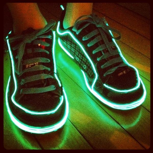 Max\'s TRON shoes (Adafruit EL wire and more!) « Adafruit Industries ...