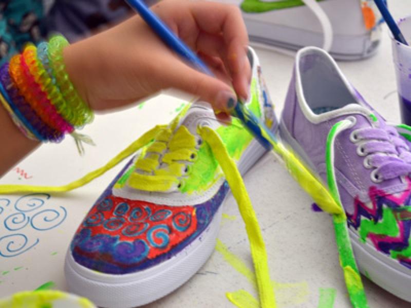 Curiousjane Fashion Paintingshoes