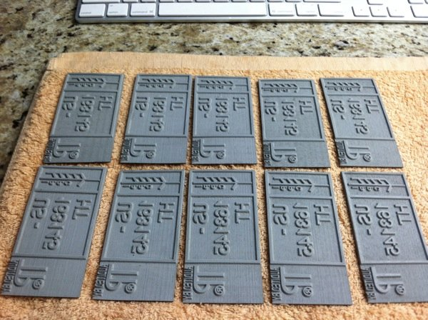 Homemade Laser Cut Rubber Stamps