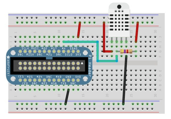 Tutorial: DHT Humidity Sensing on Raspberry Pi with Google