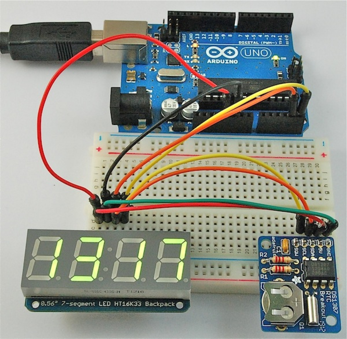 Arduino and DS1307 LCD Digital Clock Project