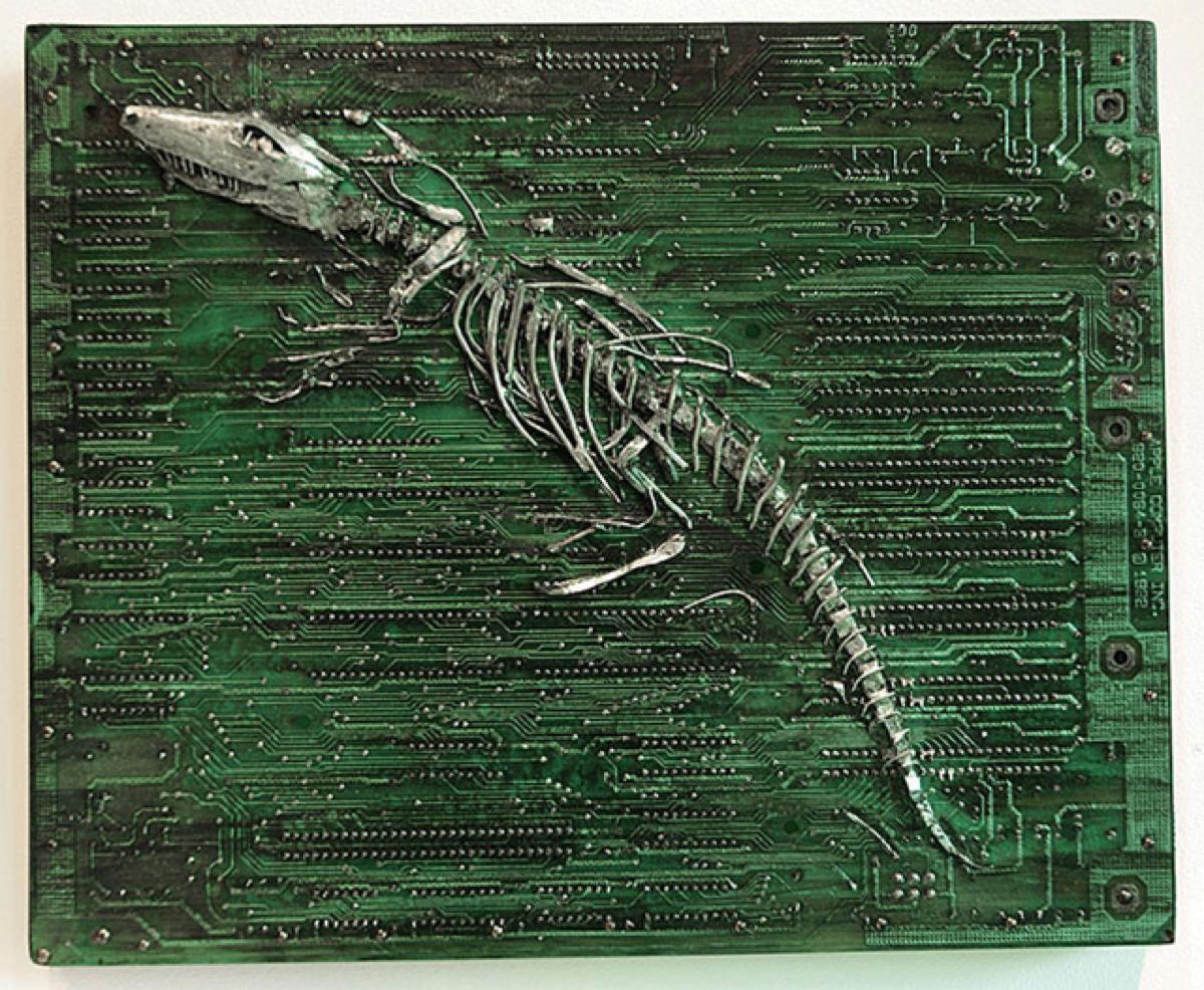 Circuit Board Fossils By Artist Peter Mcfarlane Adafruit Maker Images Of