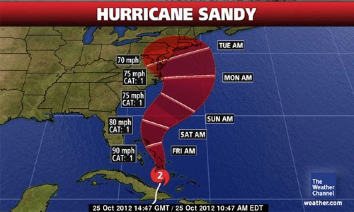 Hurricane Sandy Time Map 500