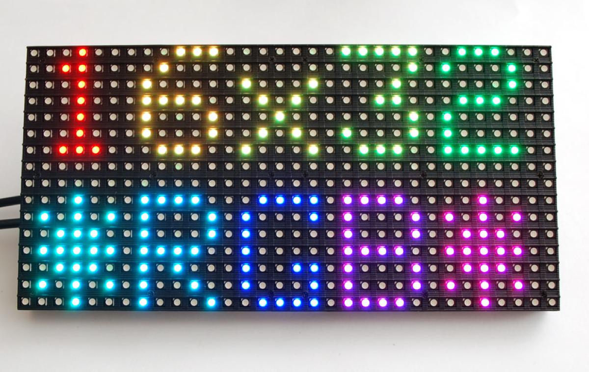 16x32 RGB LED matrix panel