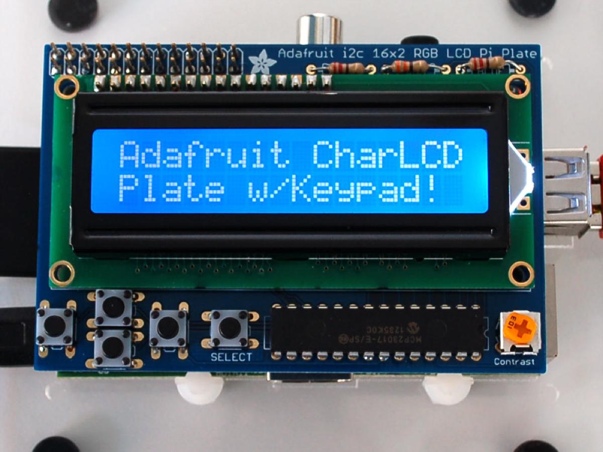 Adafruit Blue&White 16x2 LCD