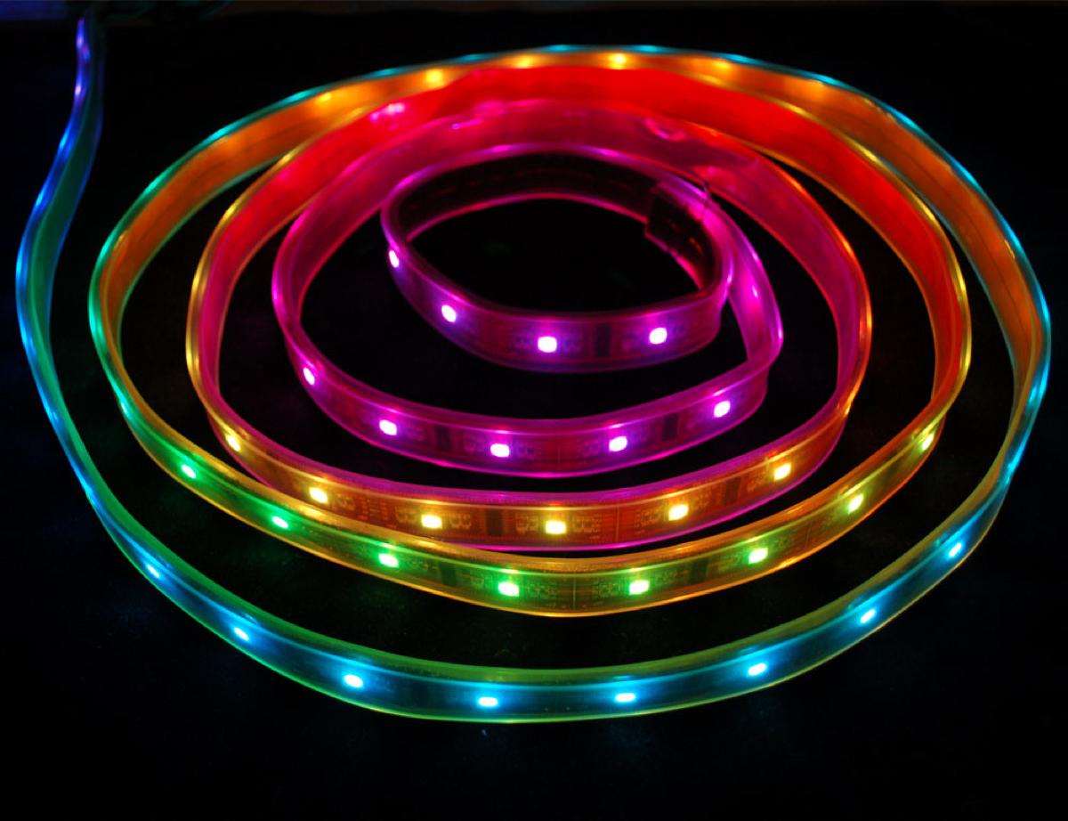 Digital RGB LED Weatherproof Strip - LPD8806 32 LED ID: 306