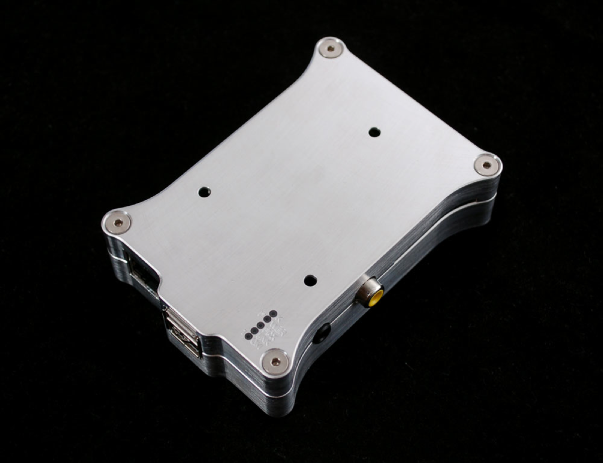 Pi Holder milled aluminum case
