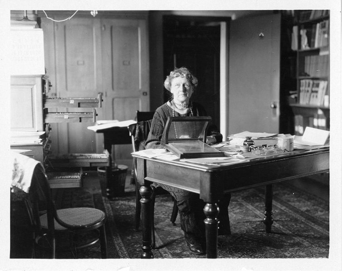 Annie Jump Cannon Sitting At Desk