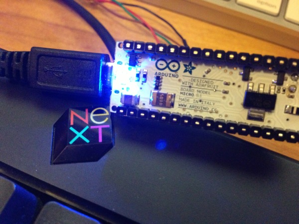 Hack usb next keyboard with an arduino micro