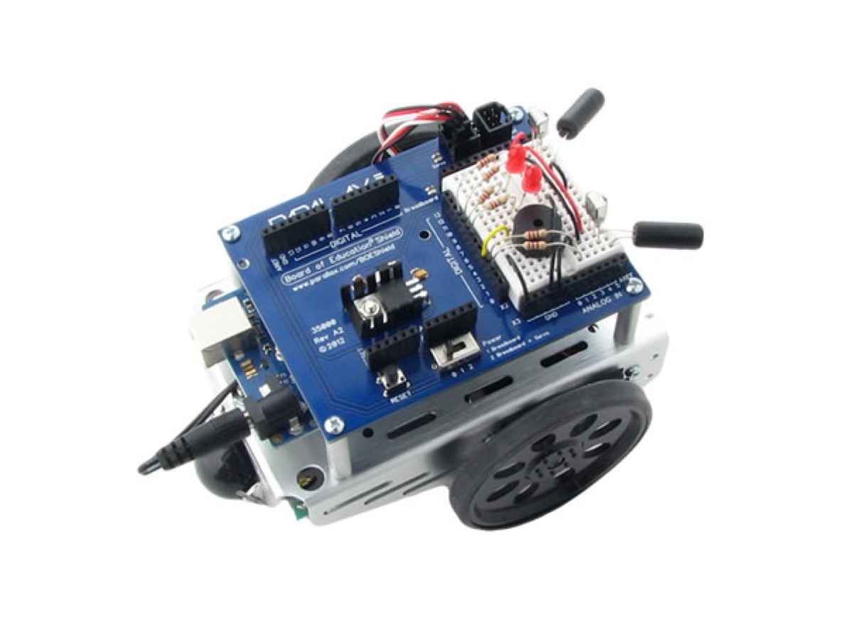 Arduino robot used for promotion of RobotC (via RoboMatter) .