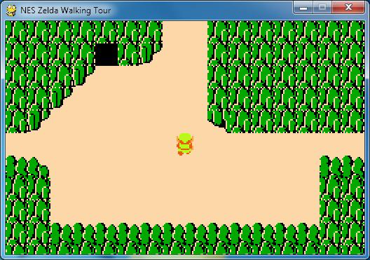 Python Script to Walk Around the Legend of Zelda Overworld ...