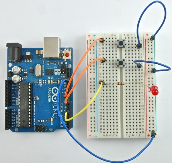 Tutorial arduino lesson digital inputs